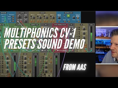 Multiphonics Cv-1 presets sound demo from @Applied Acoustics Systems