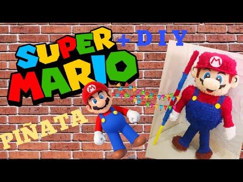 Super Mario Piñata made of paper mache and cardboard || DIY Mario Piñata