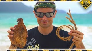 A simple trick for turning coconuts into rope, without any tools! [✓] Coconut Husk Fiber: http://amzn.to/2fDs89J Endcard Links: Christmas Life Hacks: ...