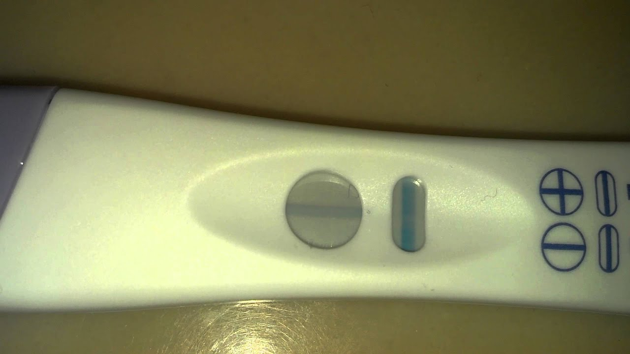 Live pregnancy test 10DPO Target brand - YouTube