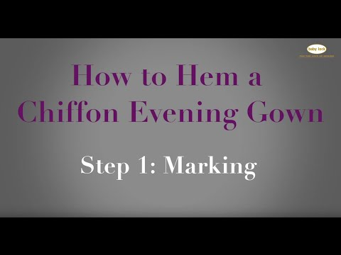 how to hem a chiffon evening gown step 1 marking youtube. Black Bedroom Furniture Sets. Home Design Ideas