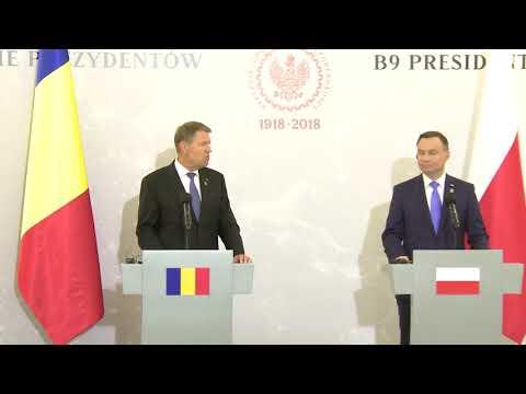 STIRIPESURSE.RO DeclaratiI comune a presedintilor Klaus Iohannis si Andrzej Duda