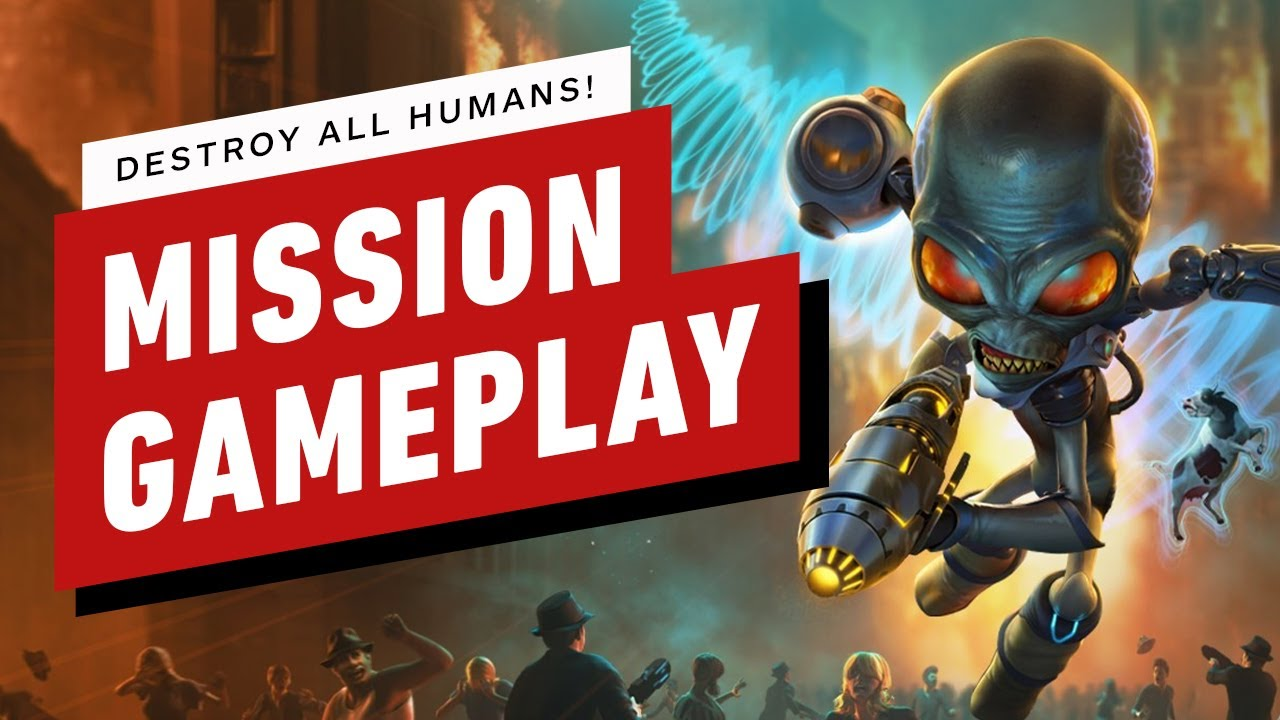 Destroy All Humans! Remake - Foreign Correspondent Mission Gameplay - IGN thumbnail