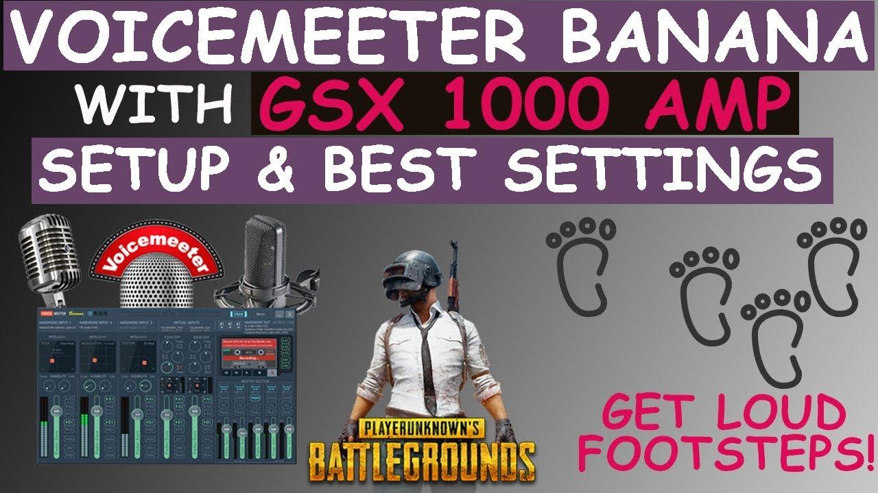 Guide: Voicemeeter banana & gsx 1000 setup and settings