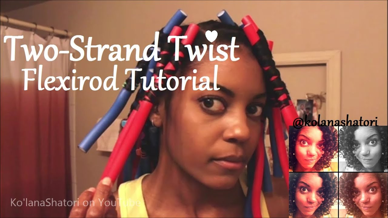 Two Strand Twists On Flexirods Tutorial Transitioning