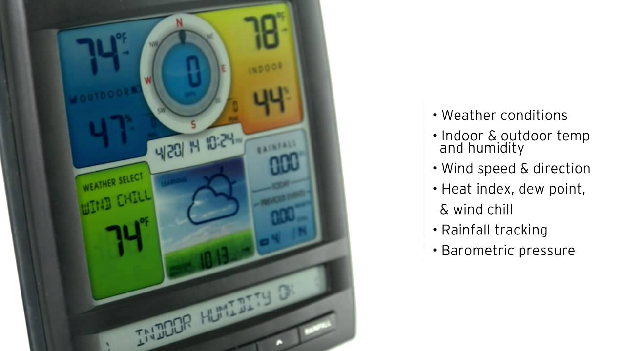 acurite 01512 pro color weather station with rain wind