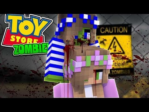 ZOMBIES TAKE OVER THE TOYSTORE!! w/Little Carly and Little Kelly (Minecraft Roleplay)