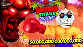 УБИЛ АДСКОГО БОССА САМЫЙ СИЛЬНЫЙ КАЧОК АДА В ЛИФТИНГ ТИТАНАХ ROBLOX Lifting Titans