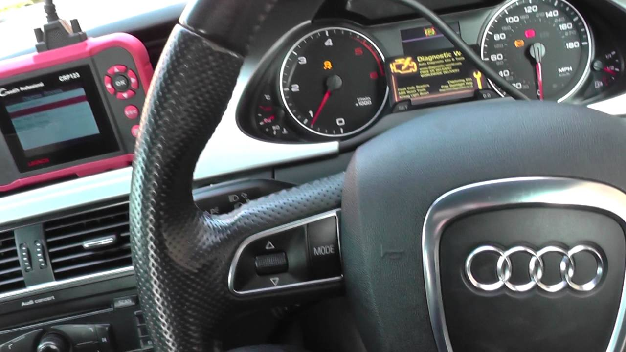 Launch CRP123 Audi A4 ABS System Fault & Reset Warning lights
