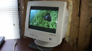 """1997 NEC Multisync A500 - 15"""" CRT Curved Monitor"""