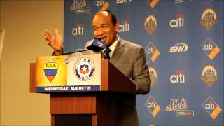 Video of the press conference held for the Chile/Ecuador soccer match at Citi Field