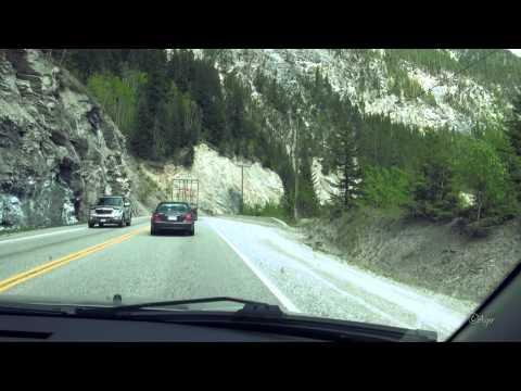 Revelstoke to Banff, British Columbia, Alberta, Canada