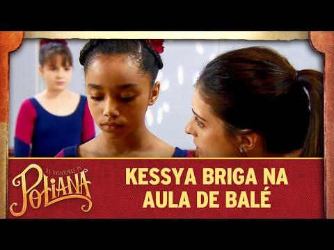 Kessya briga na aula de balé | As Aventuras de Poliana