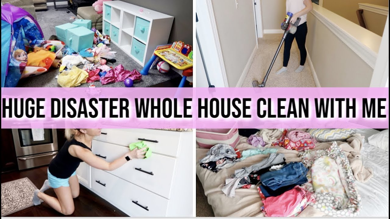*HUGE COMPLETE DISASTER WHOLE HOUSE CLEAN WITH ME!   SUPER MESSY HOUSE    EXTREME CLEANING MOTIVATION