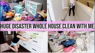 *HUGE COMPLETE DISASTER WHOLE HOUSE CLEAN WITH ME! | SUPER MESSY HOUSE | EXTREME CLEANING MOTIVATION
