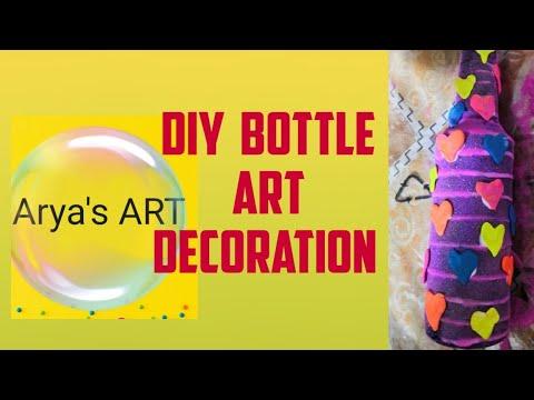 diy-arya's-art|bottle-art-heart-pattern|decorate-your-room!-|tips-&-hacks-for-easy-art-painting-2020