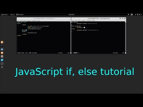 JavaScript if, else conditional statement tutorial in Linux thumbnail