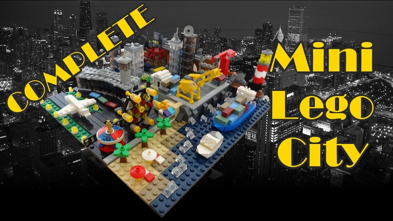 complete mini lego city youtube. Black Bedroom Furniture Sets. Home Design Ideas