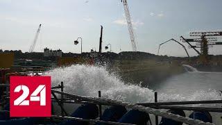 Проведена уникальная операция на сухом доке, где строится самый мощный в мире ледокол - Россия 24