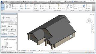 Jensen's Revit Tutorial - Residential House 06 - Roof