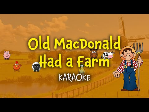 Old MacDonald Had a Farm | Karaoke with Lyrics
