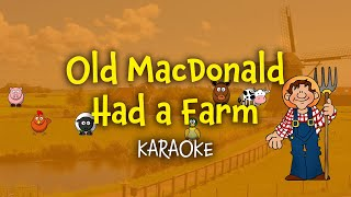 Old MacDonald had a farm (instrumental - lyrics video for karaoke)