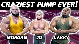BIGGEST Chest Pump in HISTORY! ft Larry Wheels, Joesthetics, Morgan Aste