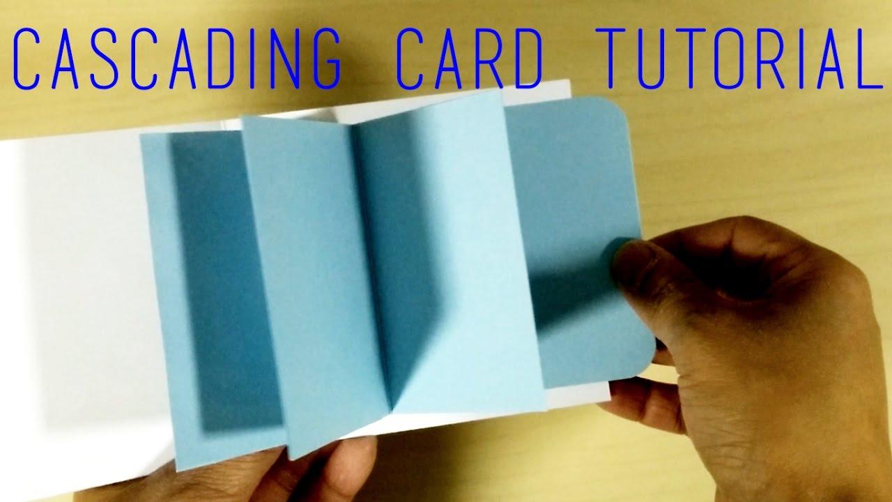 Diy Template Easy Waterfall Card Tutorial