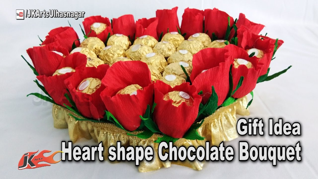 How to make heart shape chocolate bouquet mothers day gift idea how to make heart shape chocolate bouquet mothers day gift idea jk arts 1183 izmirmasajfo
