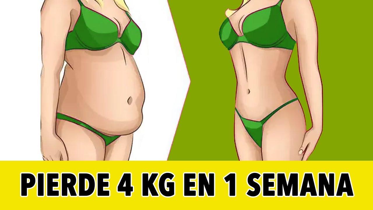 Pierde 4 Kg En 1 Semana - Rutina De Pérdida De Peso En Casa