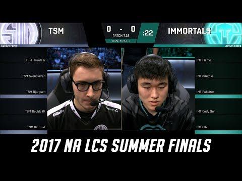 TSM vs IMT - Game 1 Grand Finals S7 NA LCS Summer 2017  - Team SoloMid vs Immortals