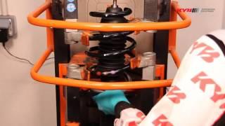 MERCEDES Citan; RENAULT Kangoo II - FRONT - Передние амортизаторы KYB установка