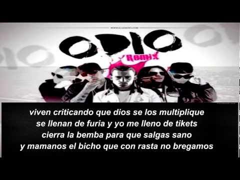 Baby Rasta y Gringo Ft Nengo Flow, Tego Calderon y Arcangel – Odio (Official Remix)(Con Letra) 2014✓