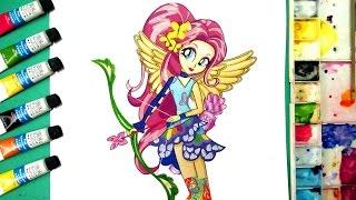 ✤ Drawinng fluttershy from my little pony equestria girls ✤ friendship games ✤