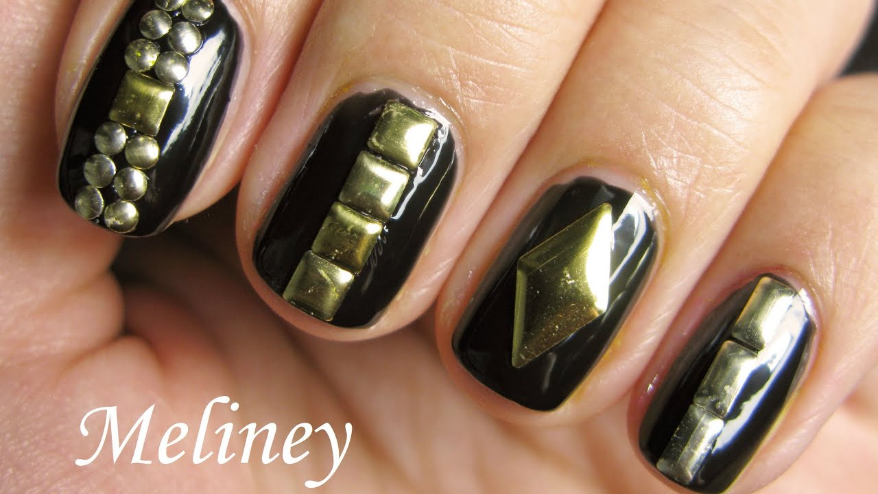 Studded nails tutorial easy nail art design for beginners with studded nails tutorial easy nail art design for beginners with tips for the perfect manicure youtube prinsesfo Gallery