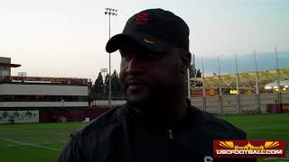 USC offensive coordinator Tee Martin talks about some of the offens...