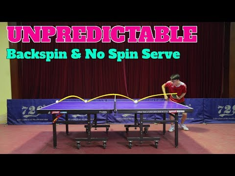 Learning UNPREDICTABLE Backspin & No Spin Serve | MLFM Table Tennis Tutorial thumbnail