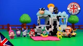 The Oddbods Toys Episode - Action Vehicles, Mini Racers, Rocket Launchers & Aliens!