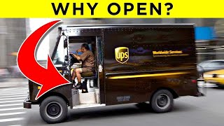 The Real Reason UPS Trucks Always Have Their Doors Open