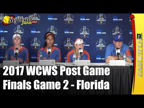 Florida - 2017 WCWS D1 NCAA Softball Championship Finals | Post Game 2