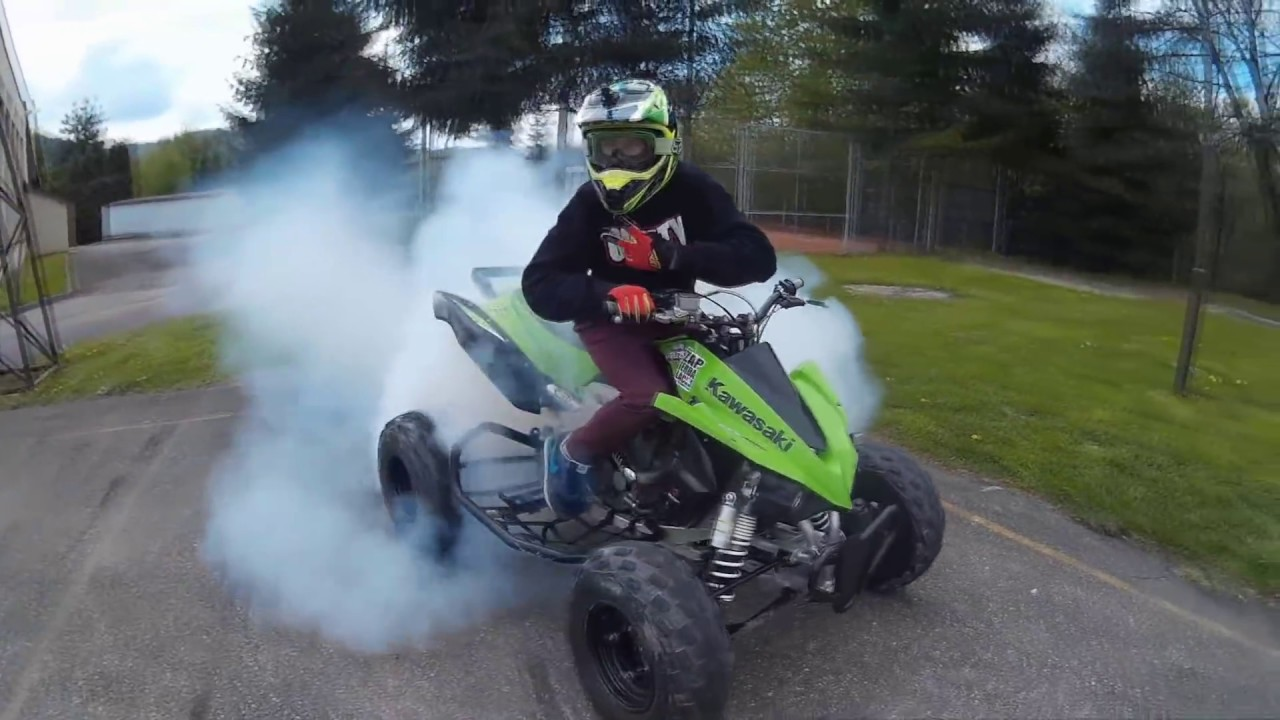 Kawasaki Kfx 450 STUNT - YouTube