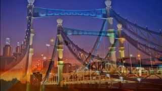 台中大坑景觀橋 / 藍天白雲