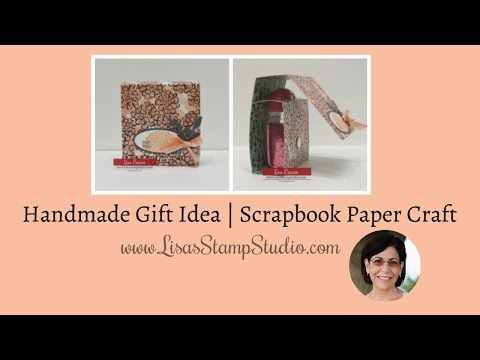 Handmade Gift Idea | Scrapbook Paper Craft