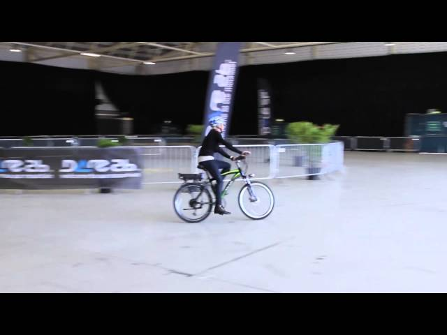 Testing a Ibex Plus Electric Bike at the Irish Cycle Show 2015 - Unravel Travel TV