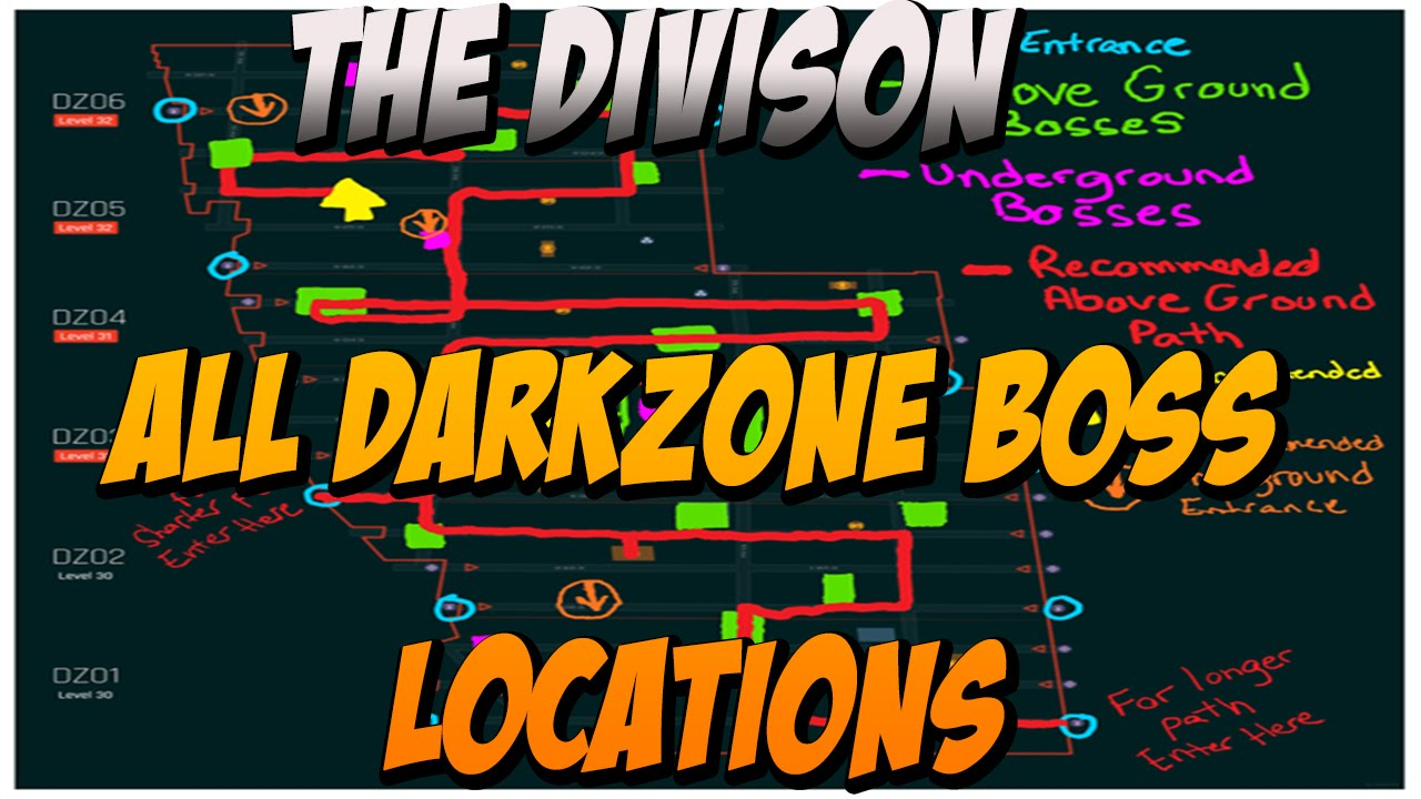Map Of World Bosses In The Division.The Division All Darkzone Boss Locations With Gameplay