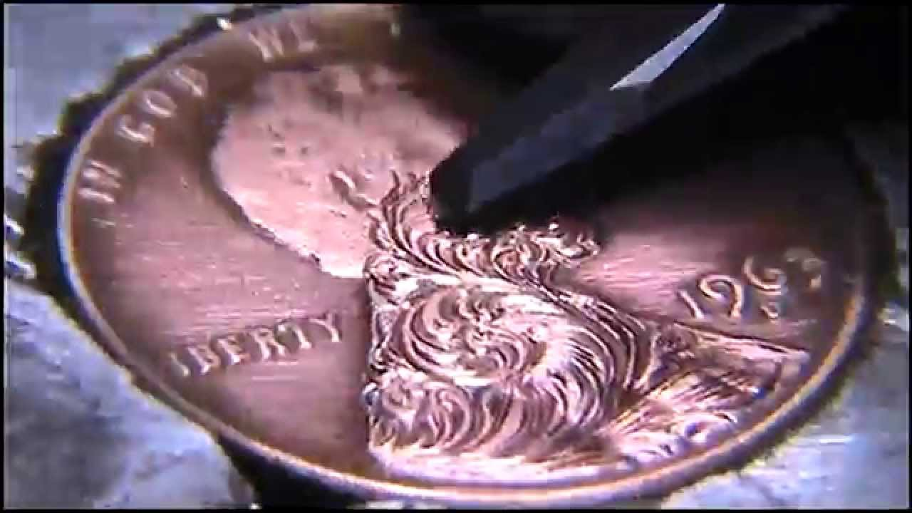 Hand Engraving Practice Freehand Scrollwork Lincoln Cent by Shaun ...