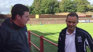 Neil kitching talks to Joe about the draw at workington