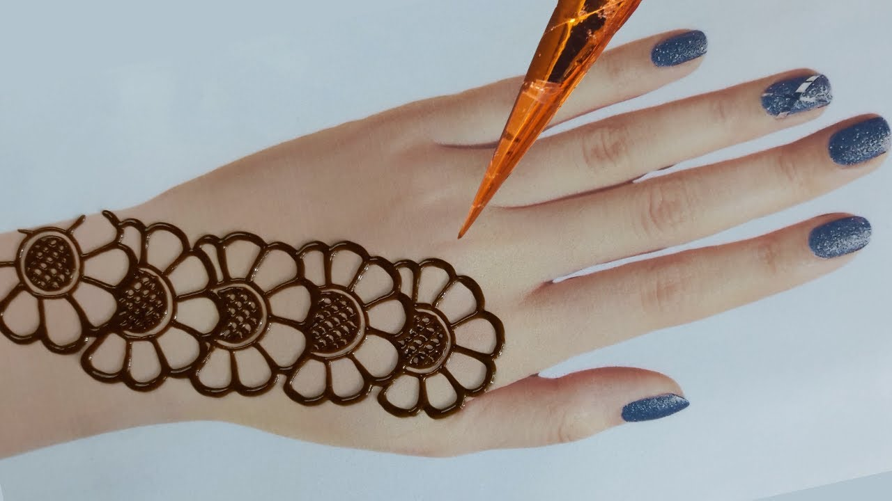 Easy Mehndi Designs For Back Hands Beautiful And Simple Henna Designs Youtube