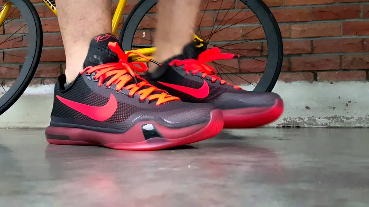 18a5b42581ce OF Nike Kobe X - Bright Crimson Anthracite - YouTube