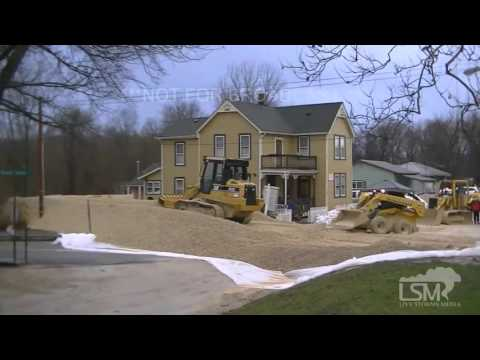 12-28-15 Kimmswick, Missouri - Mississippi River Flooding & Flood Prevention